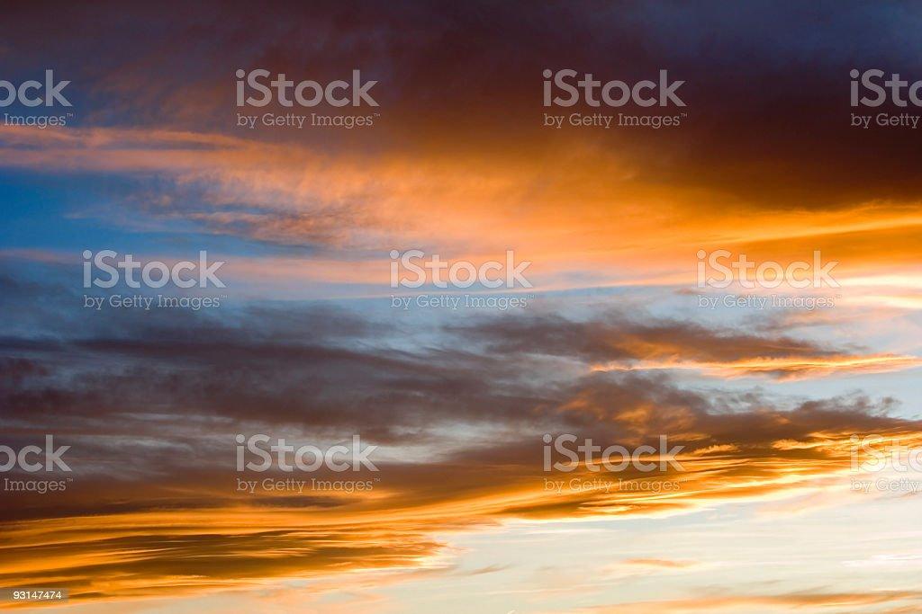 Fiery sky royalty-free stock photo
