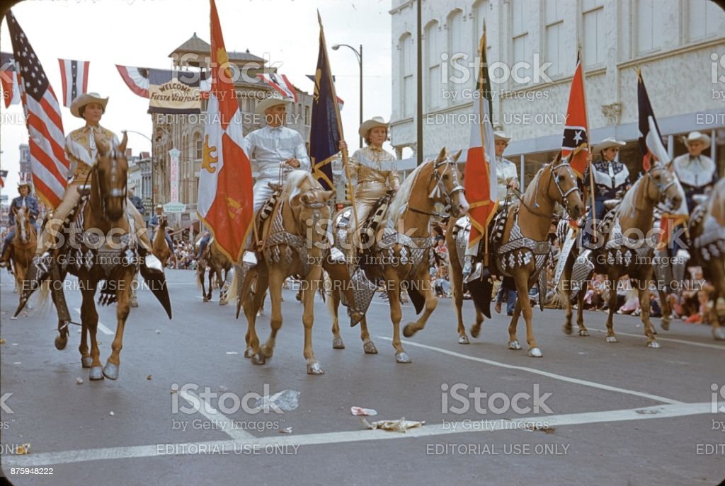 Fiesta Parade in San Antonio, Texas, 1960 stock photo