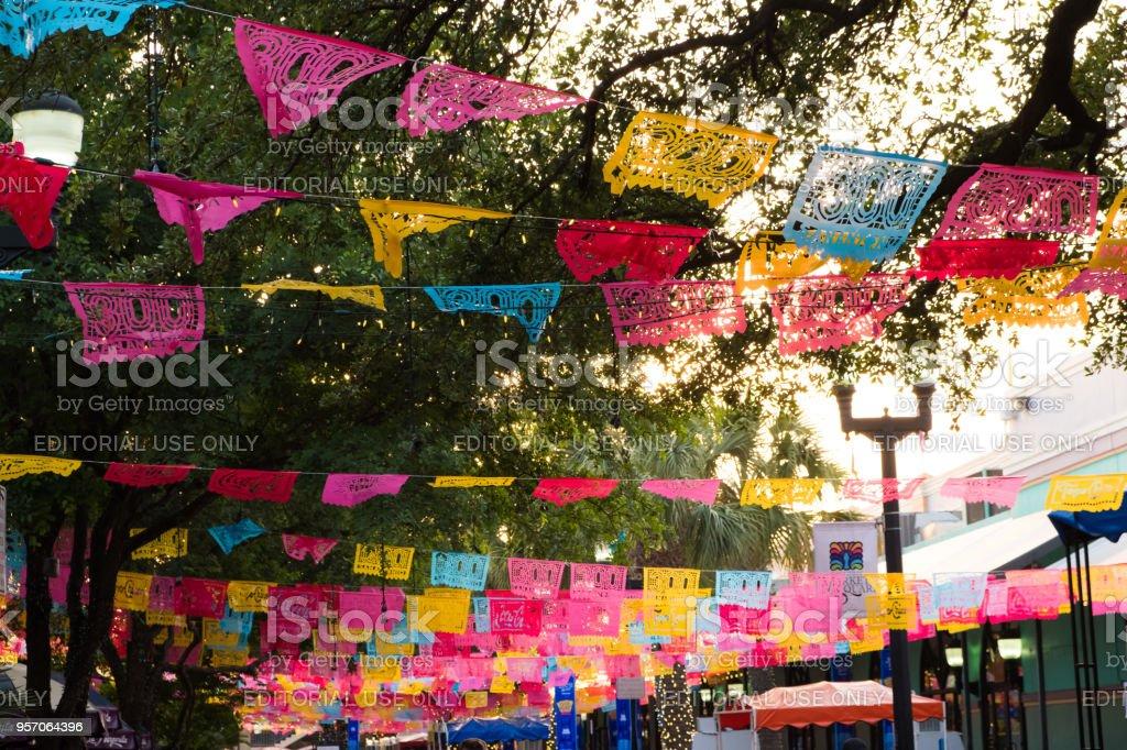 Fiesta San Antonio Tricentennial Year stock photo