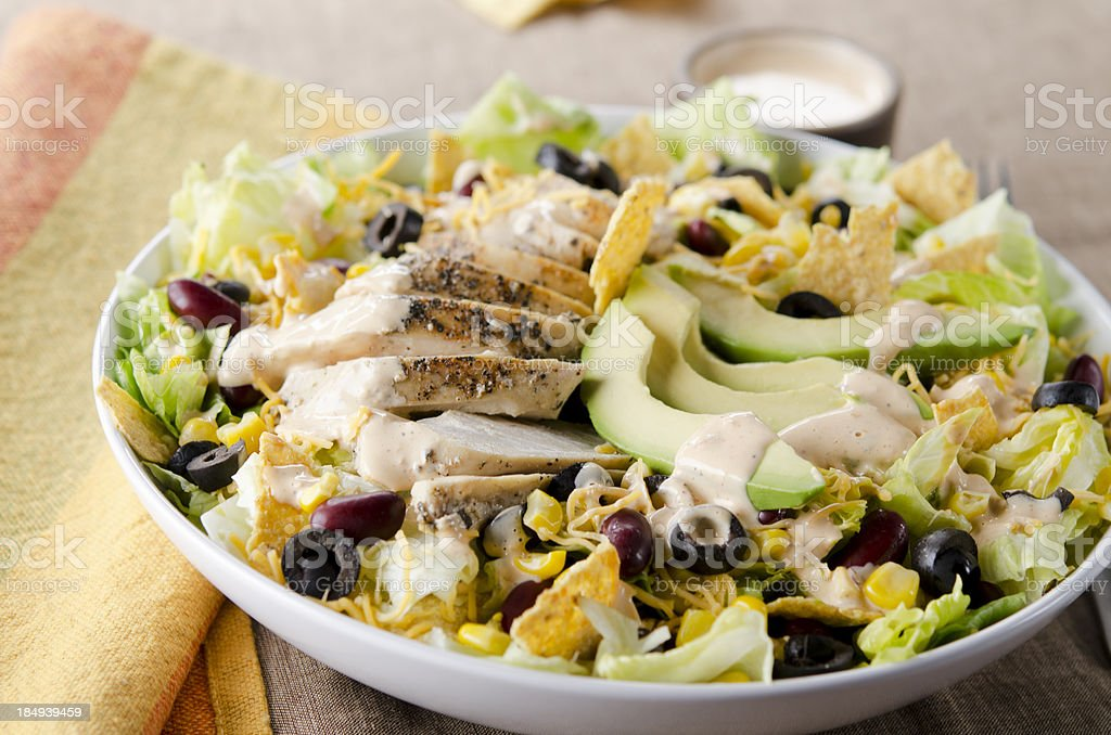 Fiesta Taco Salad stock photo