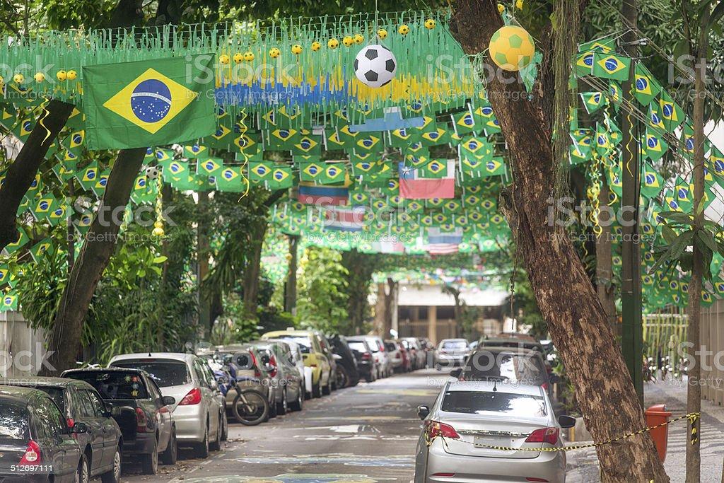 Copa do Mundo da Fifa 2014-Rio de Janeiro street - foto de acervo