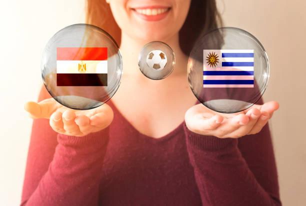 FIFA World Cup Konzept, Ägypten Vs uruguay – Foto