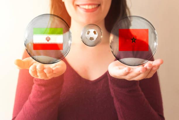 FIFA World Cup Konzept, Iran Vs Marokko – Foto