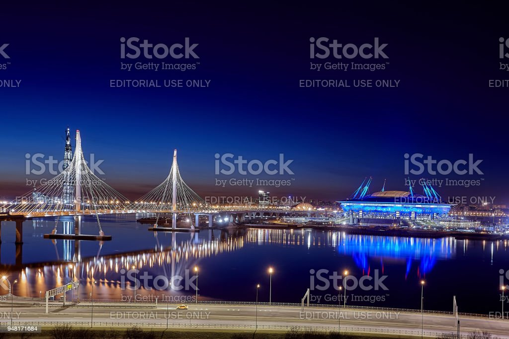 Fifa World Cup Russia 2018, Zenit Arena stadium St. Petersburg. stock photo