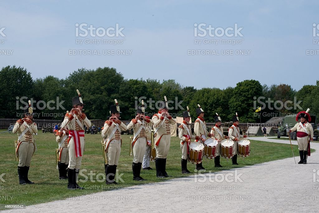 Marschmusik Band performing im Fort George Park – Foto
