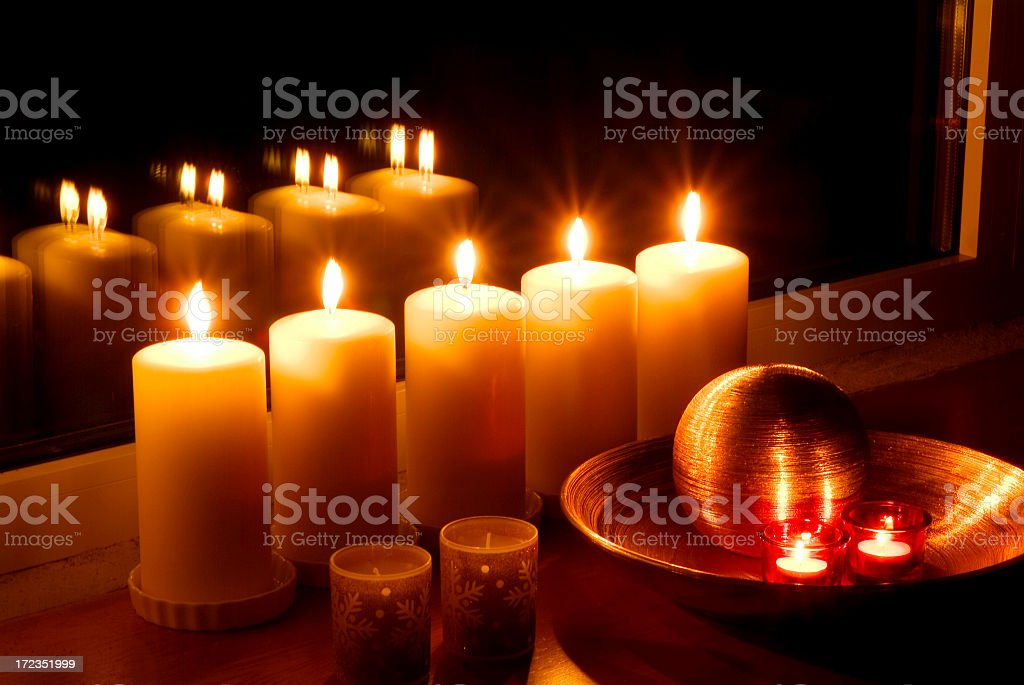 Fife Candles royalty-free stock photo