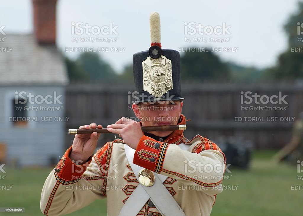 Fife-Spieler performing im Fort George Park – Foto