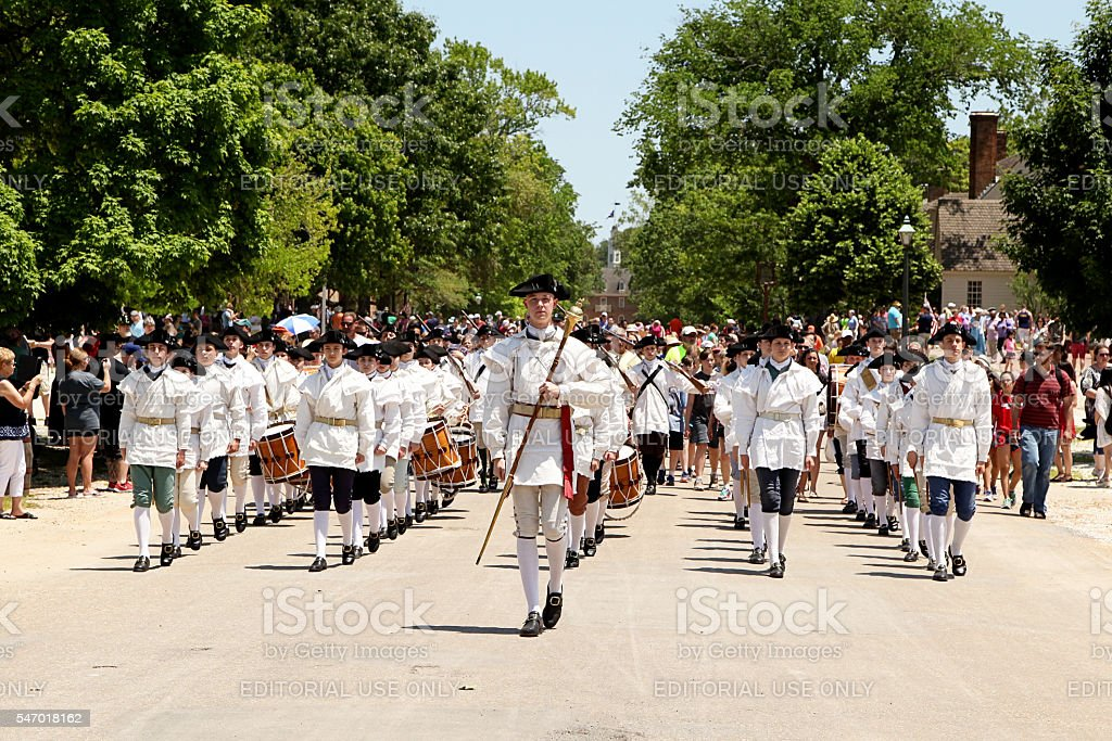 Fifes and drums stock photo