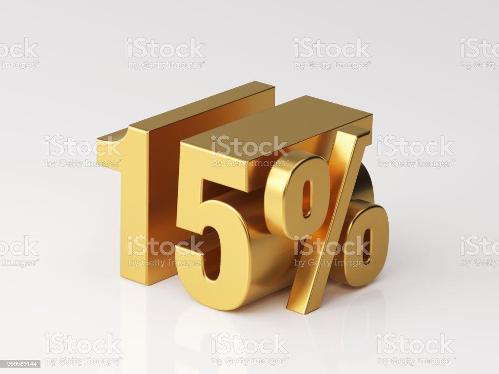 Fifteen Percent Off Discount Symbol stock photo