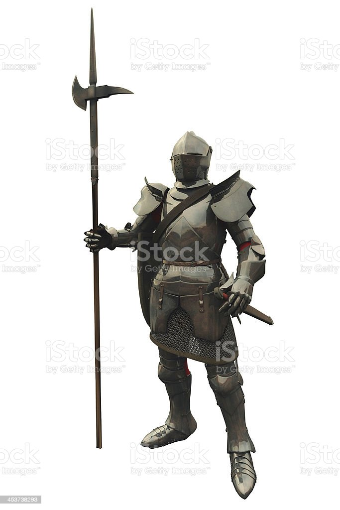 Fifteenth Century Medieval Knight stock photo