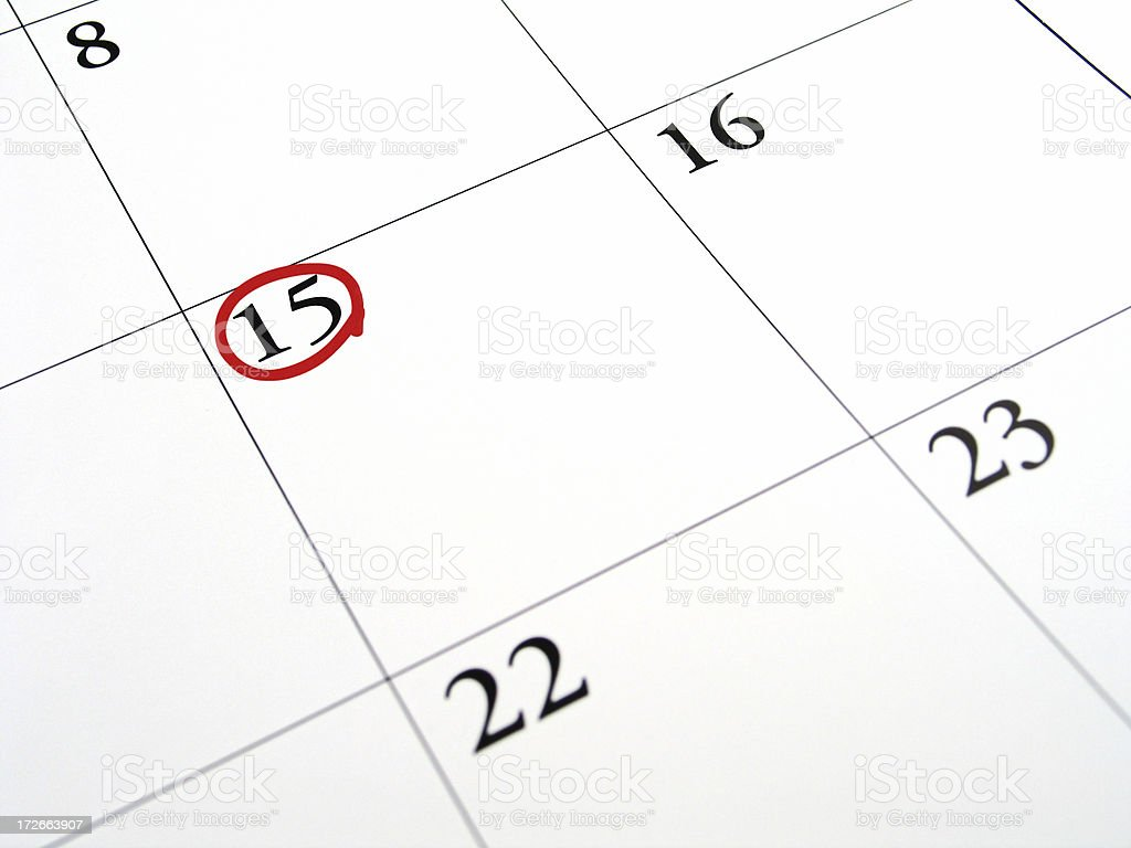 Fifteenth - Tax Day 2 stock photo