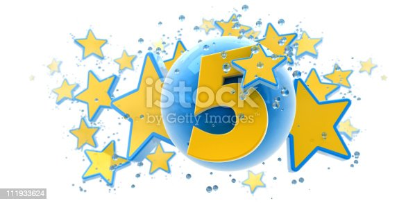 istock Fifth anniversary blue and yellow 111933624