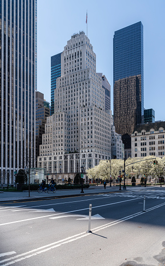 istock Fifth Avenue and Grand Army Plaza nearby Central Park is deserted despite great weather because of social distancing and stay at home order caused by COVID-19 outbreak. 1218233026