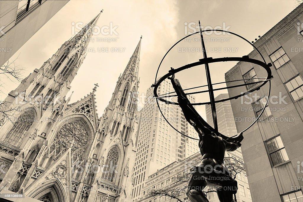 Fifth Avenue in New York City Manhattan stock photo