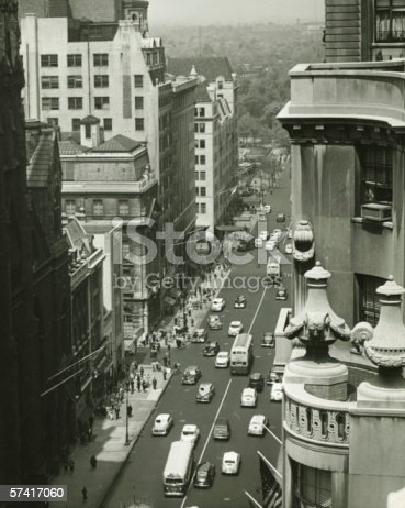 istock Fifth Avenue, New York City, (B&W), (High angle view) 57417060