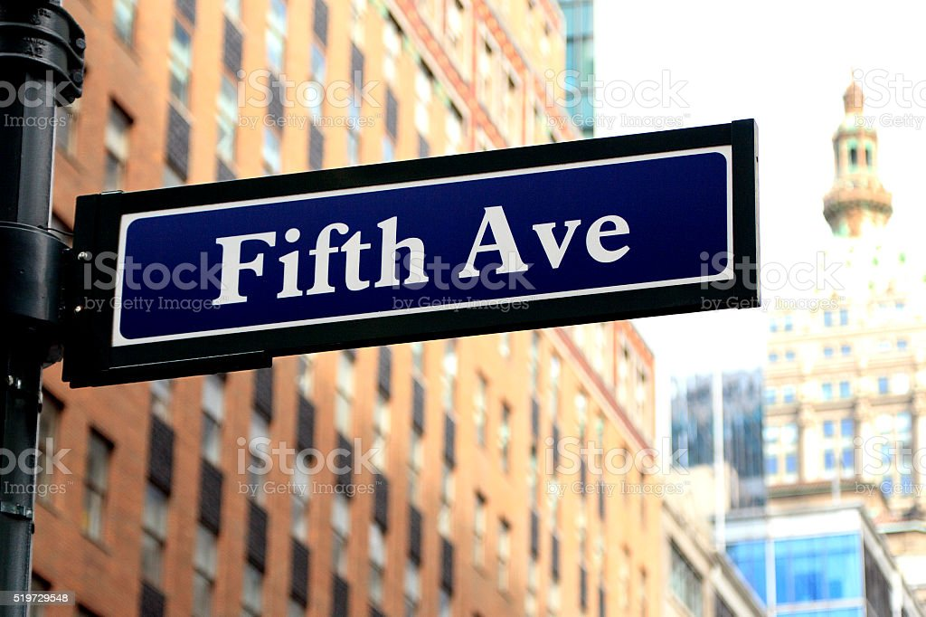 Fifth Avenue stock photo