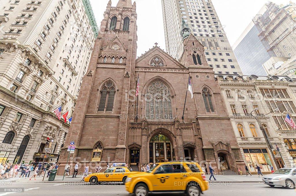Fifth Avenue Presbyterian Church in New York stock photo
