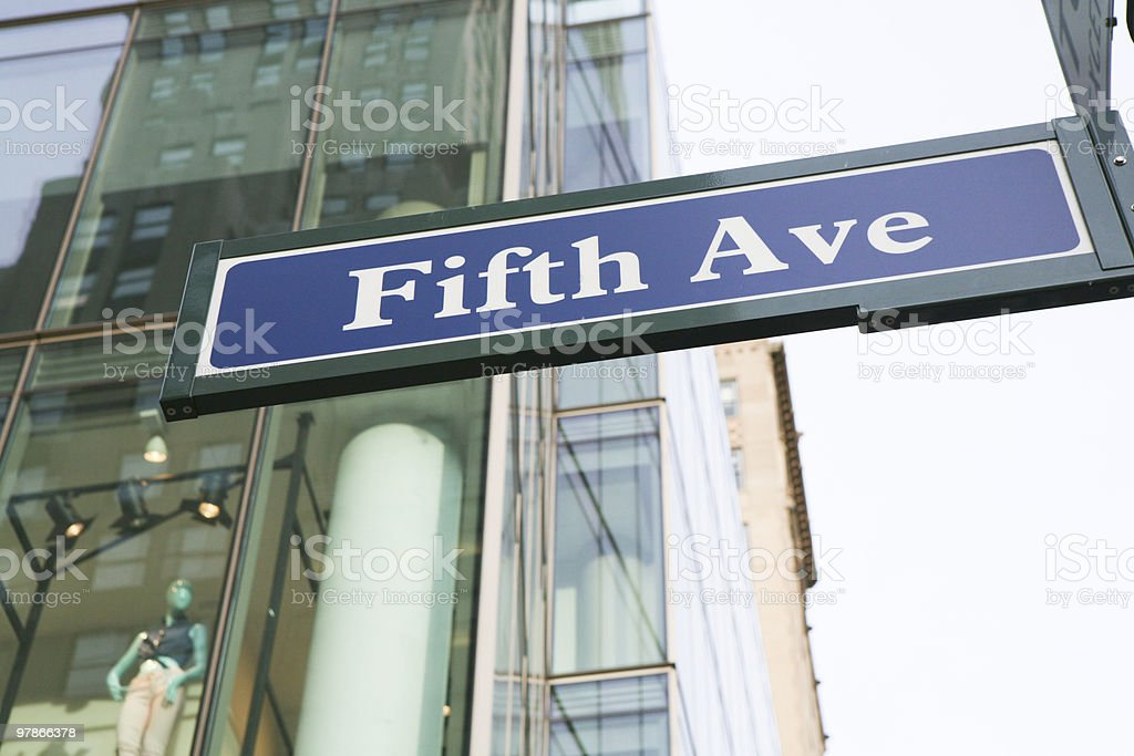 Fifth Avenue Sign royalty-free stock photo