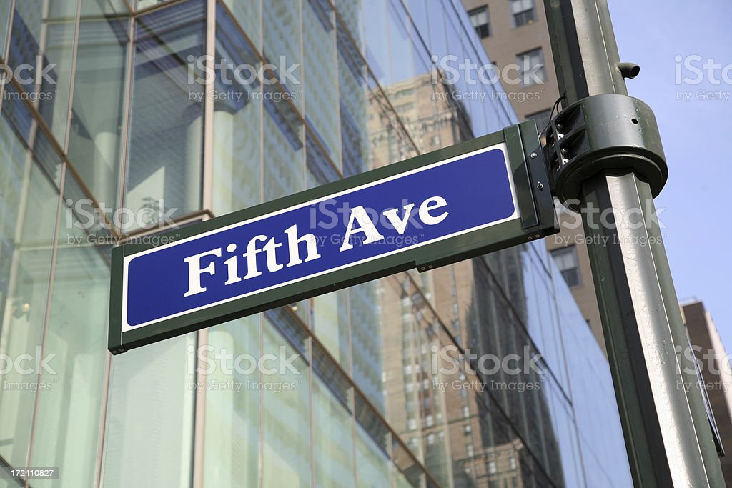 Fifth Avenue Sign Post royalty-free stock photo