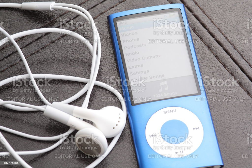 Fifth Generation iPod Nano stock photo
