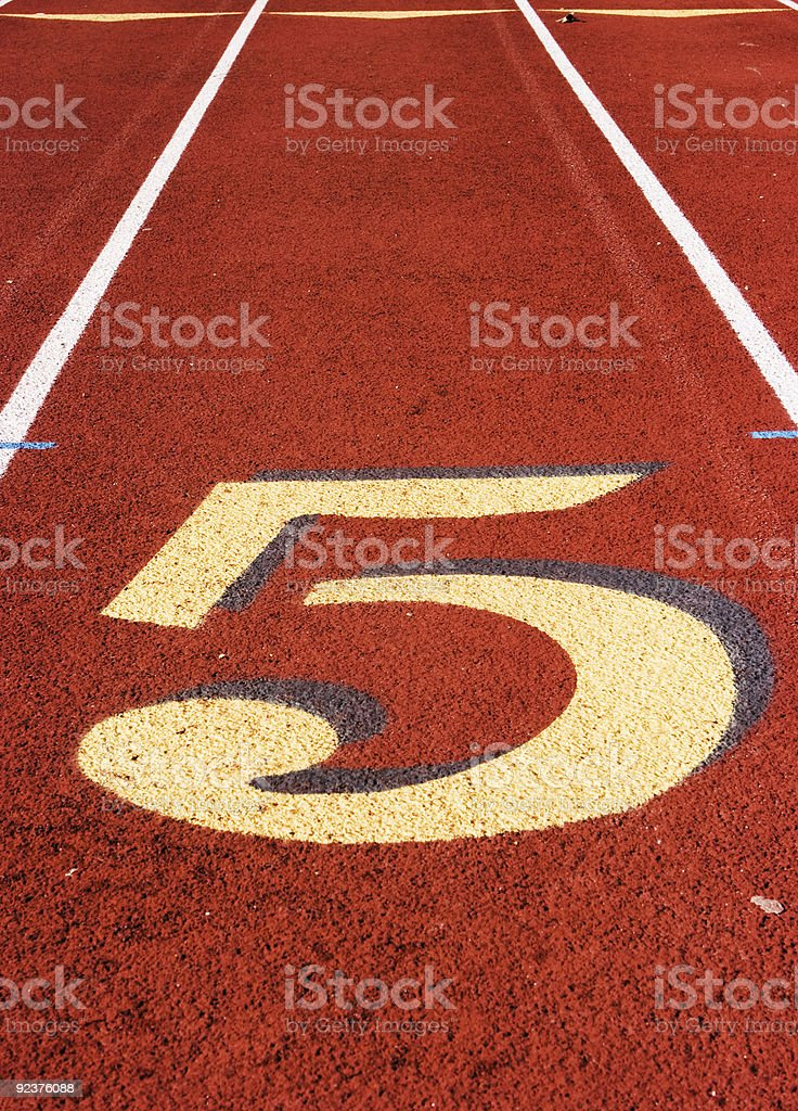 Fünfte position Lizenzfreies stock-foto