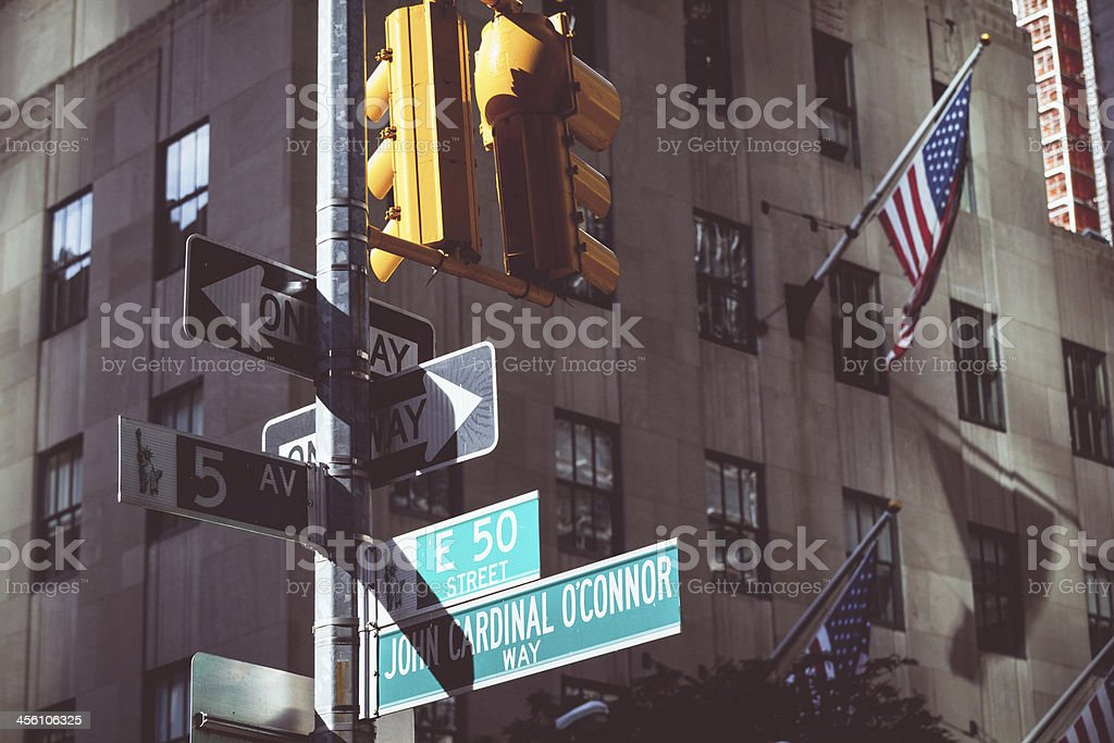 Fifth Street Sign in New York City stock photo