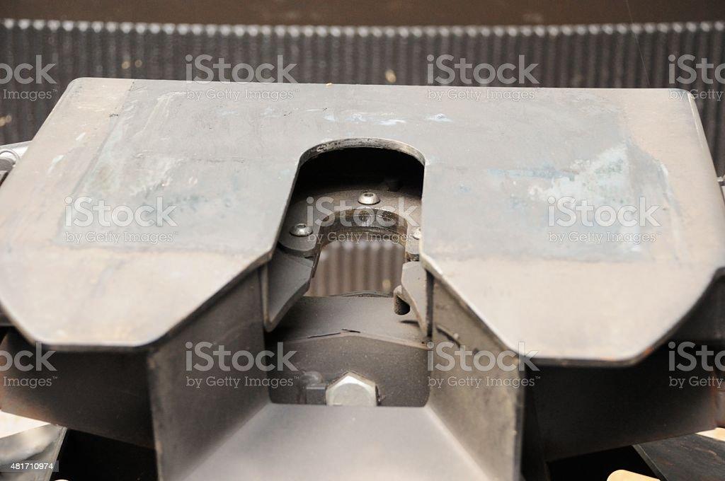 Fifth wheel hitch stock photo