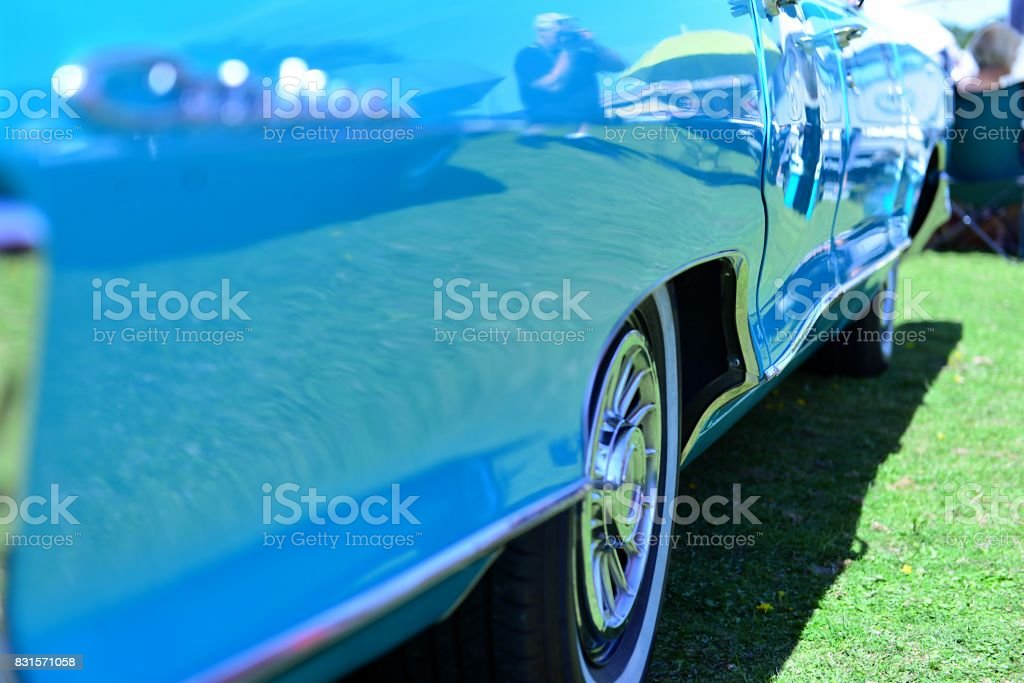 Fifties American Car side view stock photo