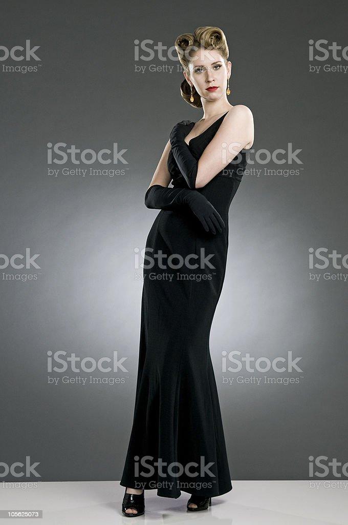 fifties hairdo royalty-free stock photo