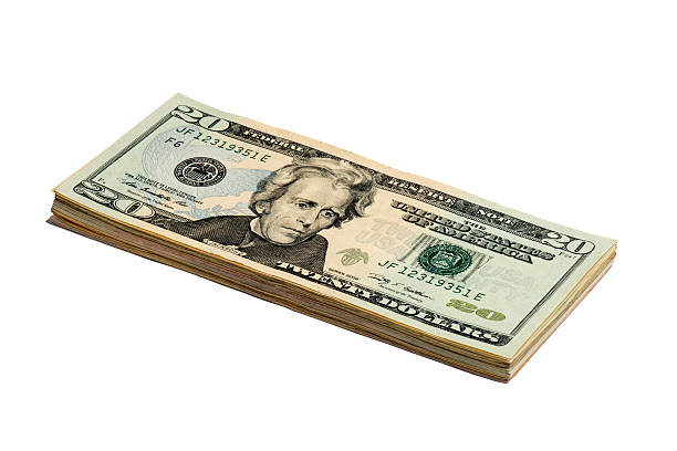 fifty american dollar bill - number 20 stock photos and pictures