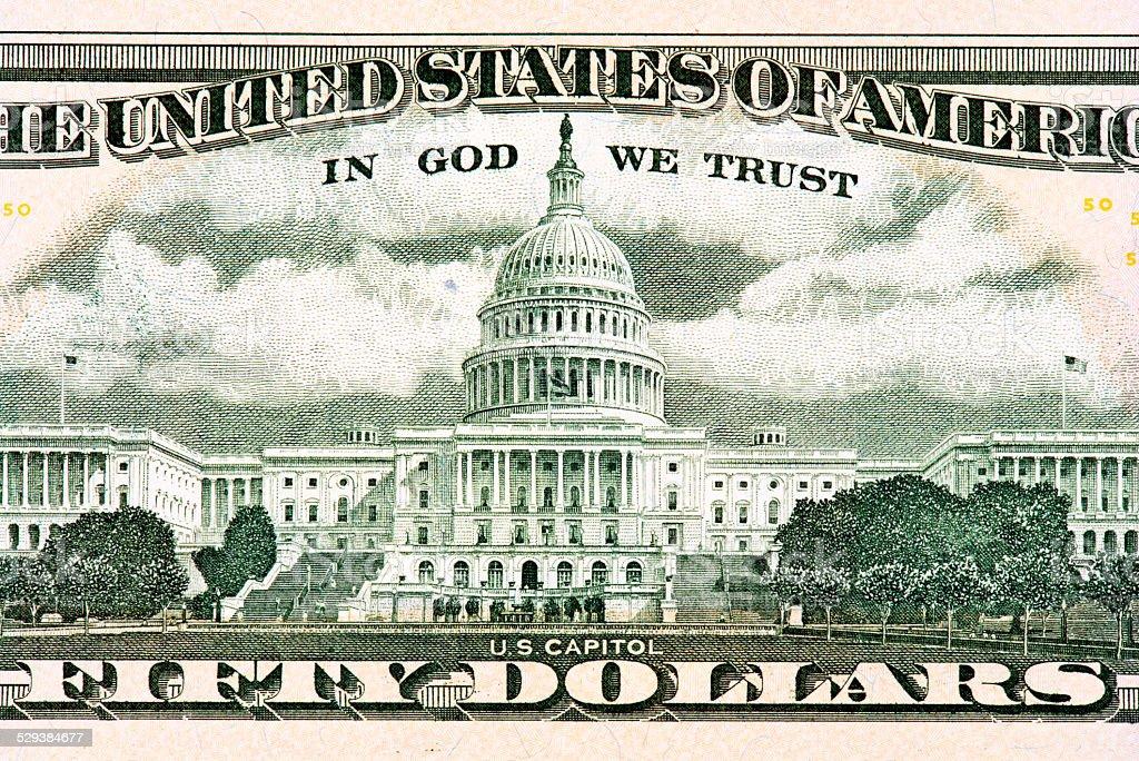 Fifty American Dollar stock photo
