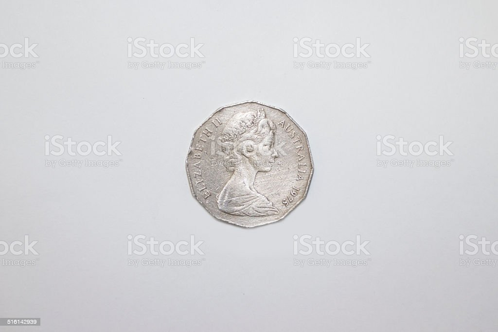 Fifty Cent piece stock photo