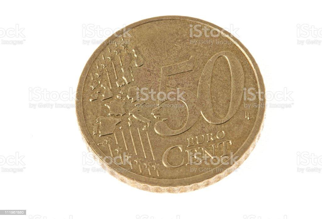 fifty cents euro stock photo