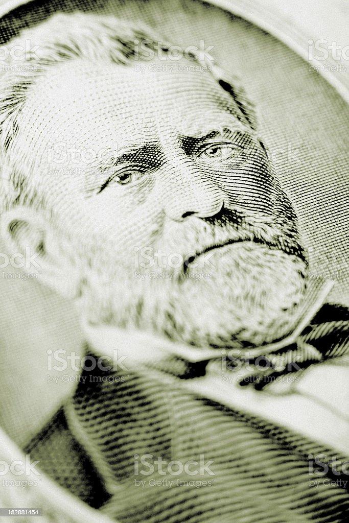 U.S. Fifty Dollar Bill - Ulysses S. Grant royalty-free stock photo