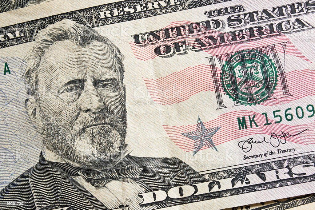 Fifty dollar for money background stock photo