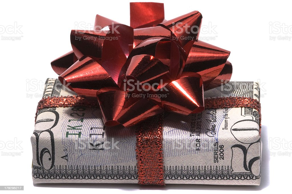 Fifty dollar gift stock photo