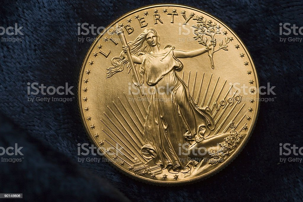 Fifty Dollar Liberty Gold Coin stock photo