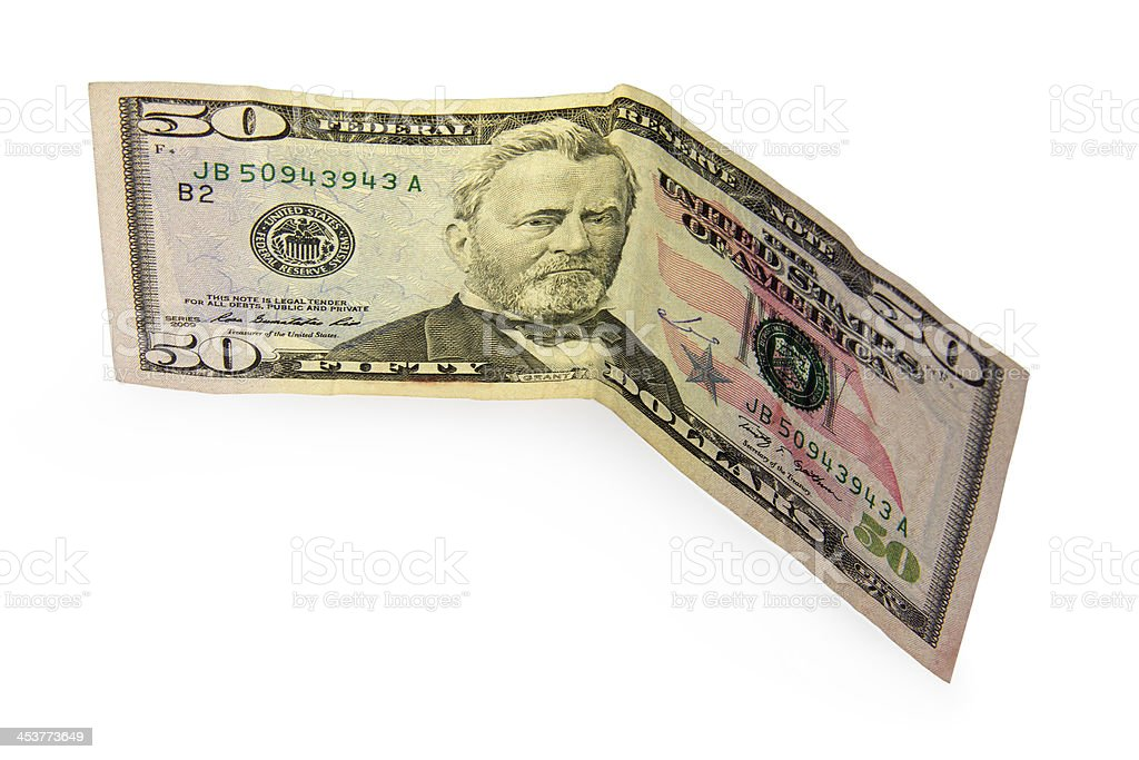 fifty dollar stock photo