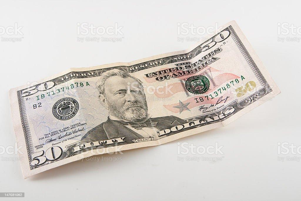 Fifty Dollars stock photo