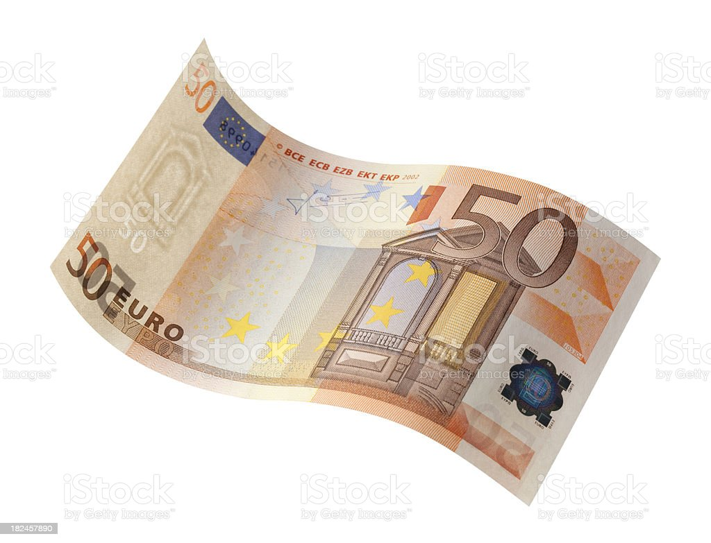 Fifty Euro Banknote royalty-free stock photo