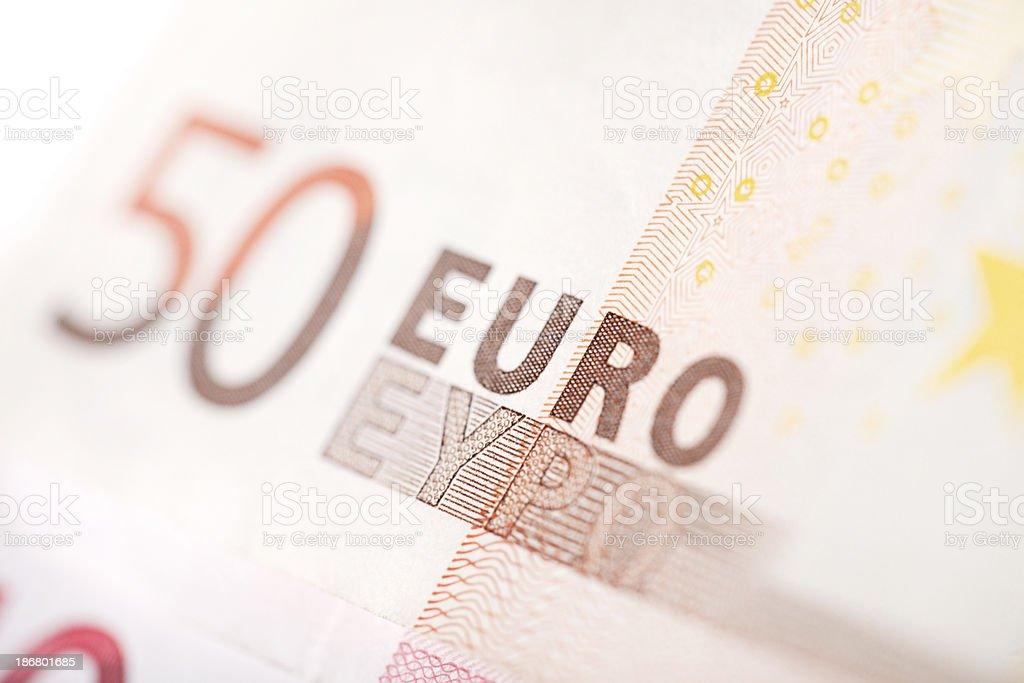 Fifty Euro Banknotes royalty-free stock photo