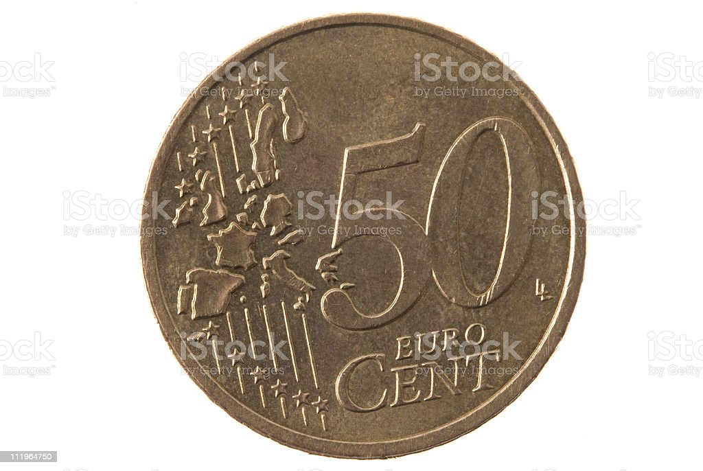 fifty euro cents stock photo