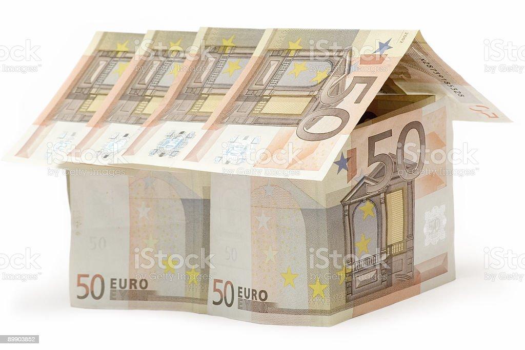 Fifty Euro House royalty-free stock photo