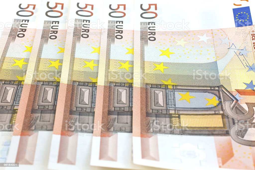 fifty euro notes background royalty-free stock photo