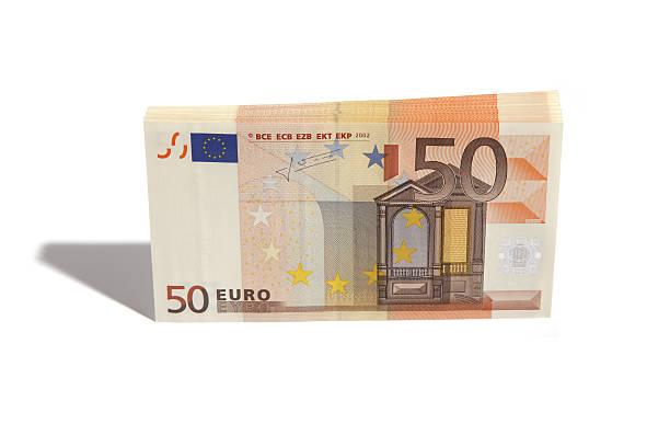 Stapel von Fünfzig euro – Foto