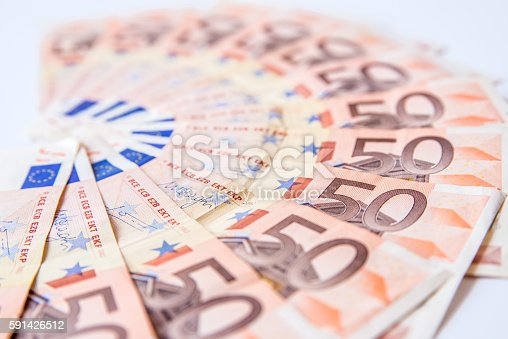 istock fifty euros banknote background on white background 591426512