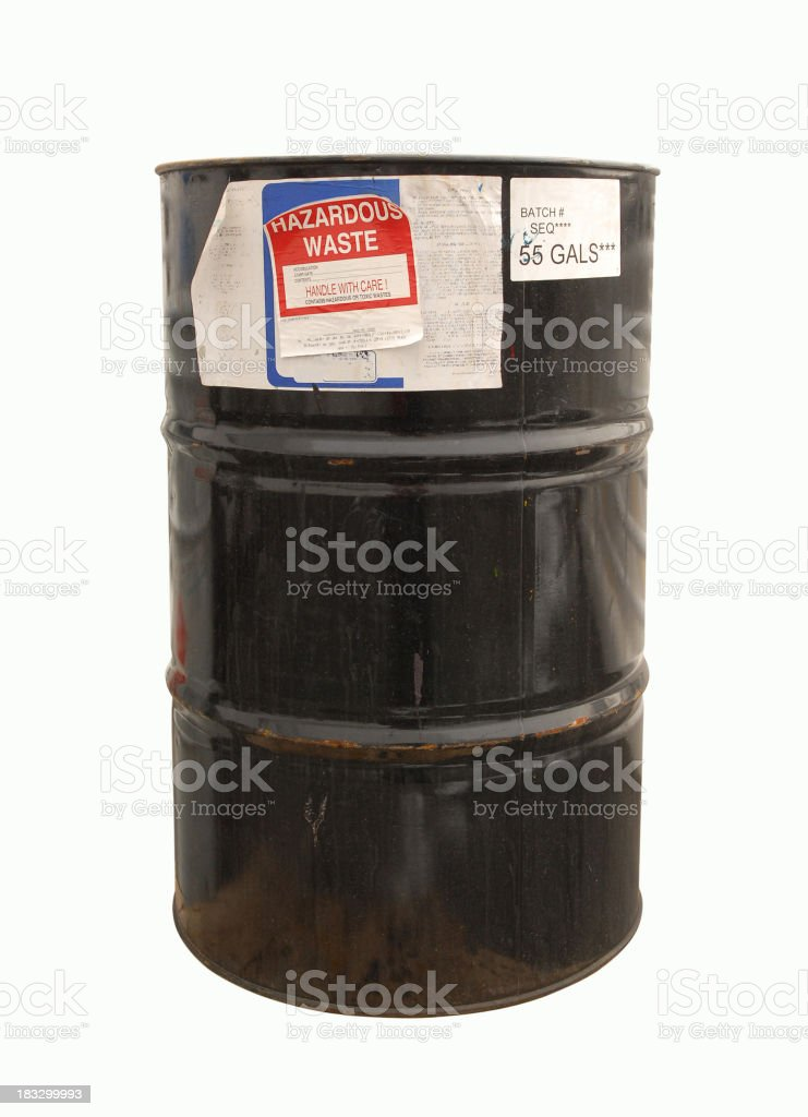 Fifty five gal drum of toxic waste royalty-free stock photo