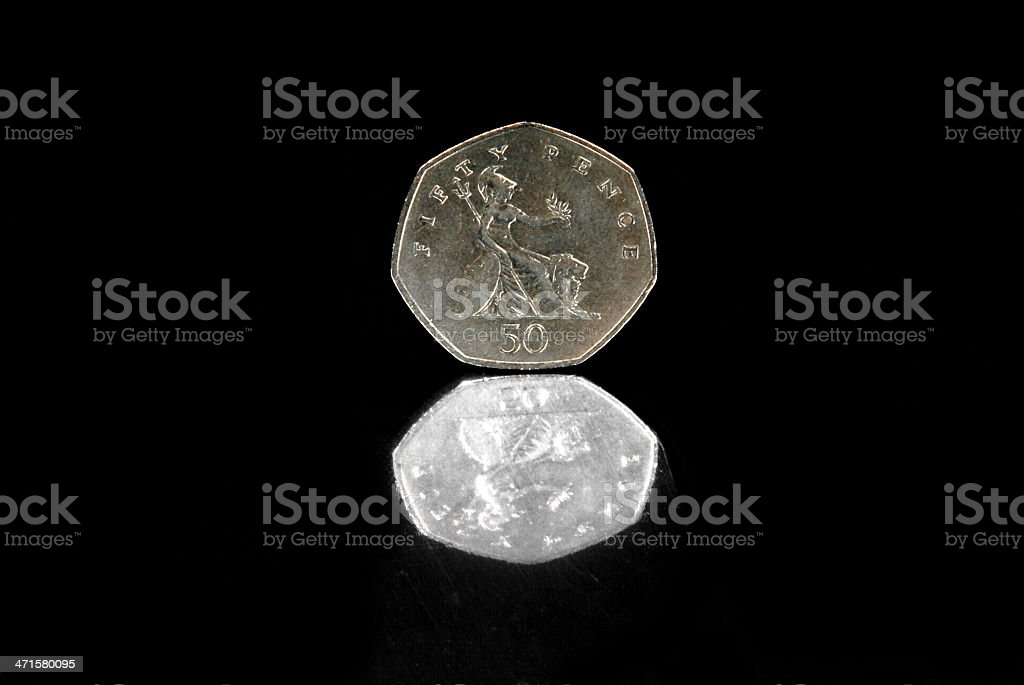 Fifty Pence stock photo