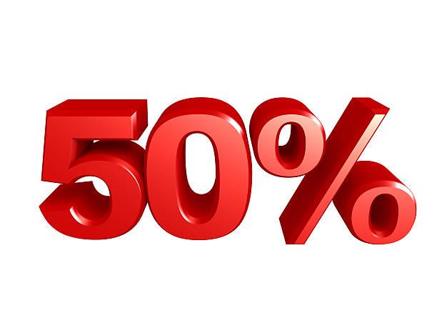 Icône de 50 pour cent - Photo