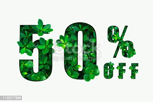 istock Fifty percent off. Discount 50%. 1145277685